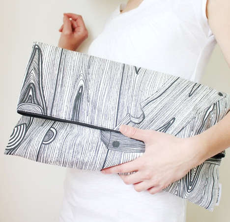 Arboreal Carryall Accessories - This Wood Print Clutch from Etsy