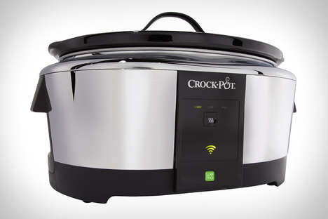 App-Connected Cookers - The Crock-Pot Slow Cooker Can be Changed Remotely Through the Web App