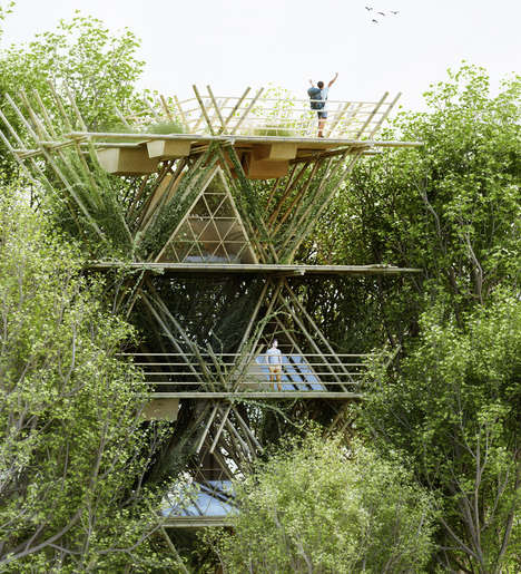 Bamboo Bird-Watching Abodes -