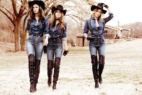 Nashville Babe Fashion Ads - The Guess Fall 2014 Campaign Stars Gigi, Samantha, Bojana and Yara