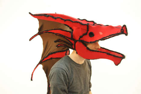 Mythical Creature Disguises - Etsy User Seth Brenneman Creates Dragon and Animal Head Masks