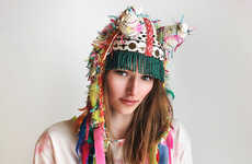 Horned Bohemian Headwear - Etsy's UTHA Hats Shop Features Tribal Headdress Designs