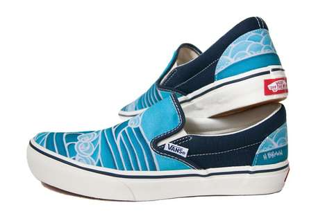 Canvas Surfer Sneakers - These Heather Brown x VANS Slip-On Shoes are Perfect for the Beach