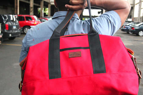 Crafty Canvas Weekend Bags - Treason Toting Co.'s Latest Vibrant Holdalls are Crafted to Perfection