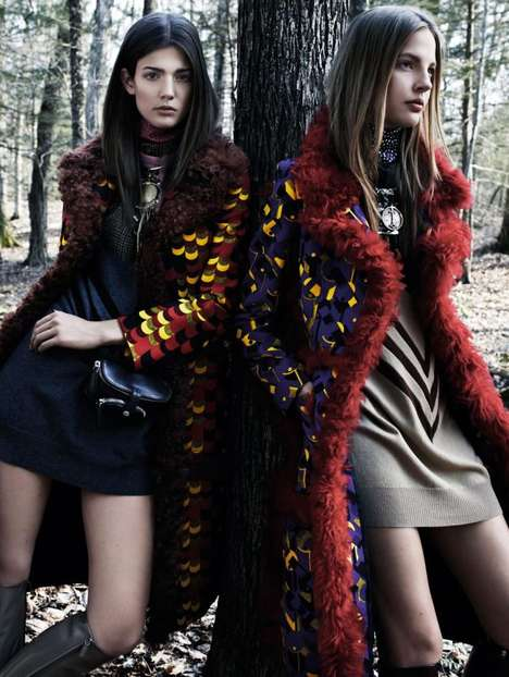 Couture Woodland Editorials - Kendra Spears and Elizabeth Erm Star in the