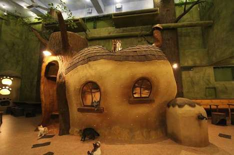 Fairytale Cat Cafes - The Temari no Ouchi Anime Cafe is Designed Exclusively for Feline Guests