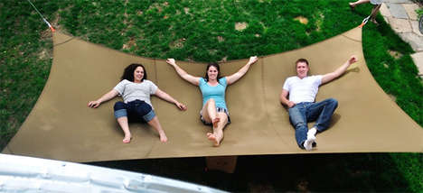 Gigantic Backyard Hammocks - The Mega Hammock Can Fit Your Entire Family in One Sitting