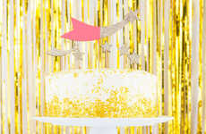This Glitzy Champagne Confetti Cake is Decorated with Edible Gold