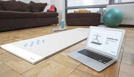 Hi-Tech Yoga Mats - Beacon is an Advanced Yoga Mat with LED Lights to Guide Users Through Poses
