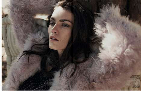 Feathery Woodland Editorials - Model Patrycja Gardygajlo Lays in the Sun for D La Repubblica July