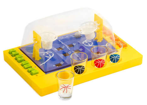 Basketball Drinking Games - This Miniature Basketball Court Toy is a Fun Drinking Game Idea
