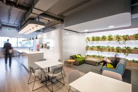 Sculptural Communal Offices - Gray Puksand Designed this Futuristic Office for ZImmer