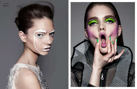 Artful Cosmetic Closeups - The Painted Exclusive for The Ones 2 Watch Celebrates Bold Makeup Looks