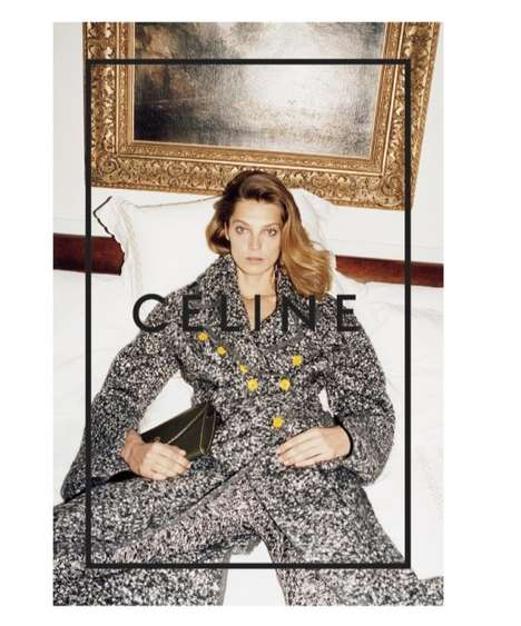 Luxurious Lobby Campaigns - The Celine Fall/Winter 2014 Ads Star Top Model Daria Werbowy