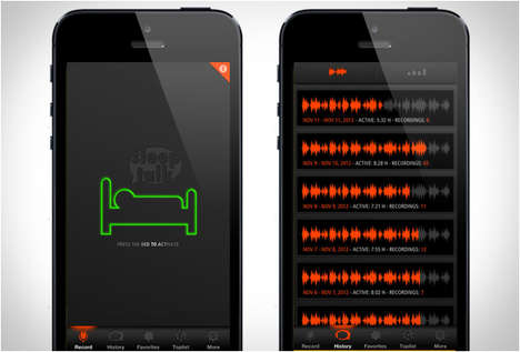 Sleep Talking Apps - This Mobile App Records Your Sleep Talking so You Can Listen in the Morning