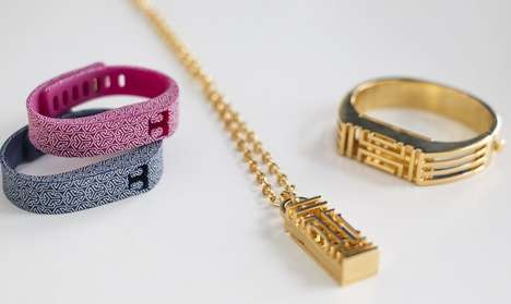 Wearable Couturier Tech - Tory Burch Bracelets Collaborated with Fitbit Flex to Make Fashion Tech