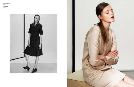 Pouting Model Portraits - The Ones 2 Watch Anastasia Editorial is Effortlessly Elegant