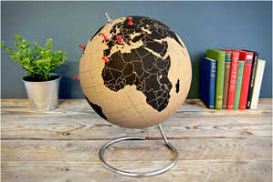 This Cork Board Globe Design Lets You Mark Where You've Traveled