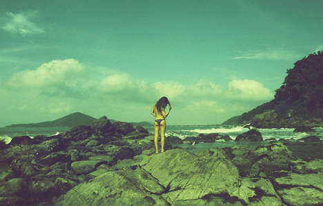 Serene Surfer Editorials - Mariana Caldas de Oliveira Photographed Mountains and Beach for C-Heads