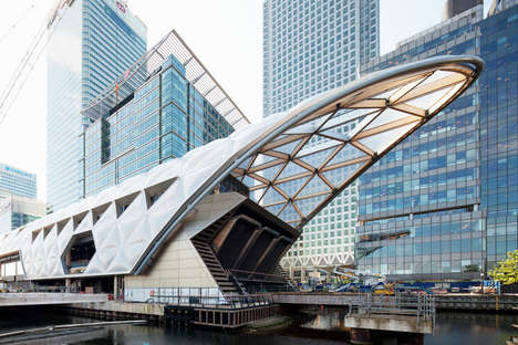 Latticed Roof Railway Stations - The Canary Wharf Station was Updated by Foster + Partners