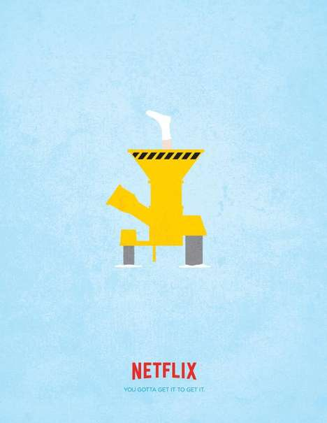 Minimalist Movie Ads - The Movie References in These Netflix Ads Appeal to Those in the Know