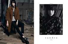 Edgy Artist Fashion Ads - The Sandro Fall 2014 Campaign Stars Edie Campbell