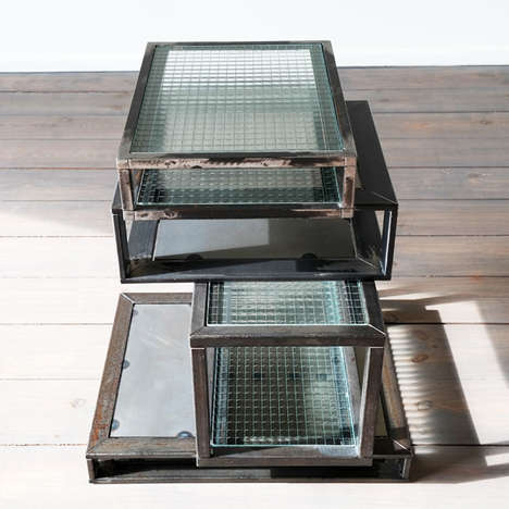 Stacked Glass Furnishings - The Box Table by Adam Wiercinski Boasts an Architecture-Inspired Design