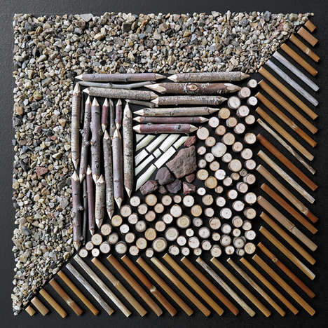 Organic Matter Collages - The Mosaic Mandala Series by Matt W. Moore Finds Beauty in Nature