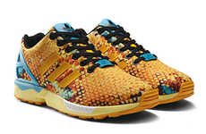Athletic Honeycomb Sneakers - These Adidas Originals ZX Flux Unisex Sneakers Look Like a Beehive