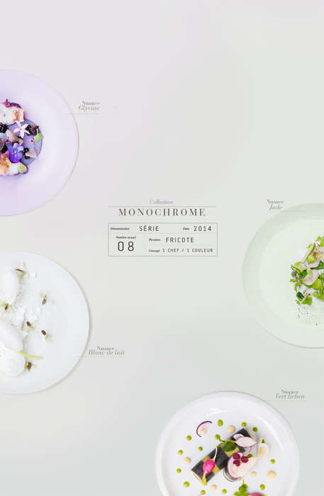 Monochromatic Culinary Palettes - Monochrome by Emilie Guelpa is Deliciously Minimalist
