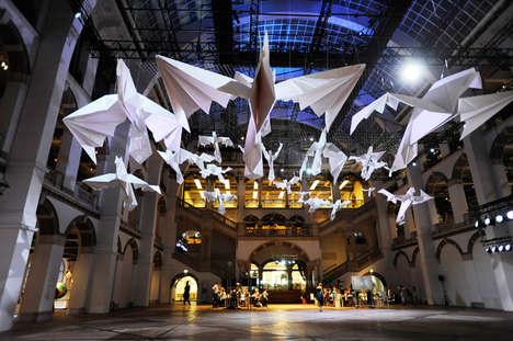 Giant Bird Installations - Sipho Mabona Presents Giant Avian Origami at Tropenmuseum