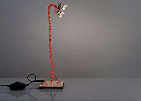Twisted Table Lamps - Deigner Shahar Katsav Creates a Sculptural Take on Industrial Lighting
