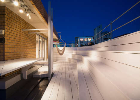 Staggered Deck Rooftops - Skypark by CASE-REAL Features a Luxurious Lounge Area