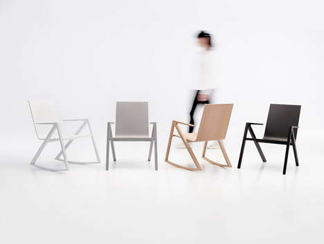 Minimalist Rocking Chair Concepts - The Felix Chair by Frederic Richard for PER/USE is Contemporary