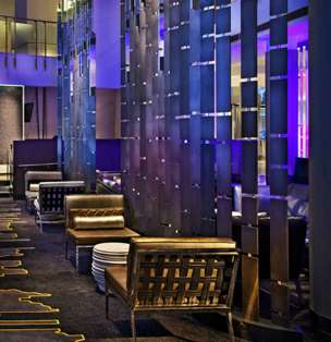 NYC Tribute Hotels - This Modern Hotel Lobby for the W New York Celebrates the Bright City
