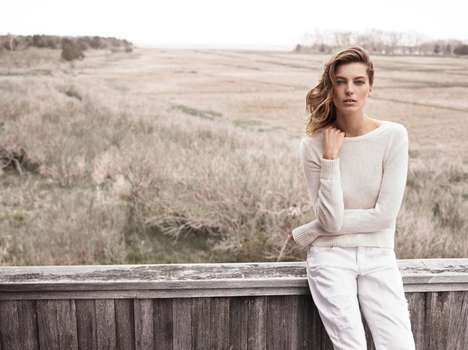 Casual Countryside Fashion Ads - The Mango Fall 2014 Campaign Stars Model Daria Werbowy