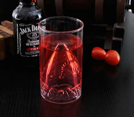Ferocious Shark Glassware - This JAWS Shark Attack Glass is Perfect for Celerating Sharks Week