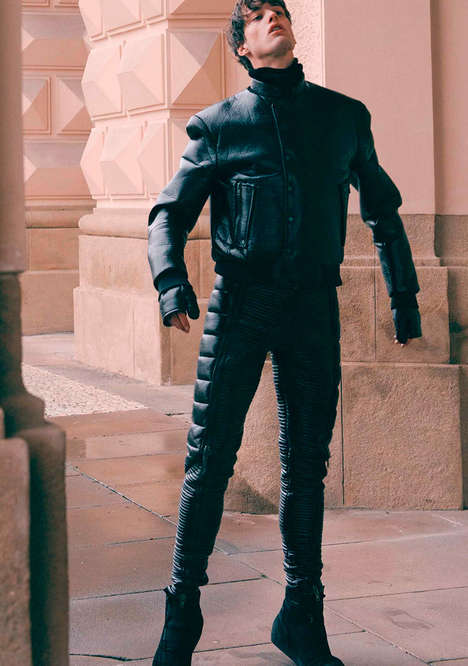 Wearable Cyborg Attire - The Asger Juel Larsen Fall/Winter 2014 Campaign is Leather-Clad