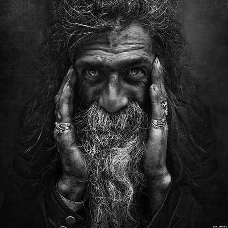 Penetrating Homeless Portraits - Lee Jeffries