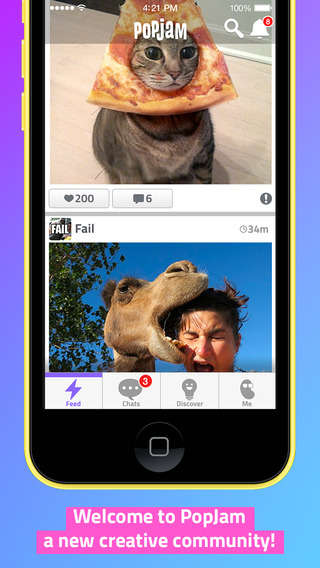 Kid-Safe Photo Networks - The PopJam App is Like a Safe Version of Instagram for Kids