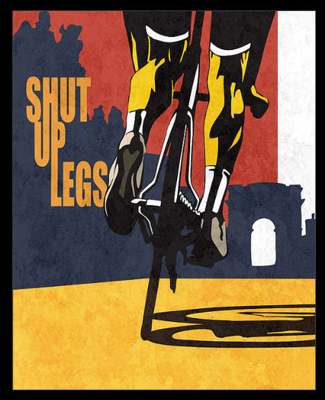 Motivational Cyclist Posters - This Tour de France Art by Sassan Filsoof Encourages Endurance
