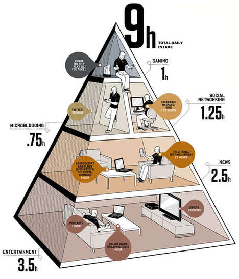 Dietary Social Media Charts - The Balancing Your Media Diet Infographic Reveals Consumption Stats
