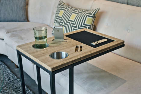 Technological TV Trays - Caddy Reinvents Tacky TV Tables into Modern Furniture Pieces