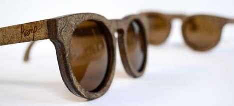 Natural Hemp Sunglasses - The Hemp Eyewear Collection is Made Exclusively from Cannabis