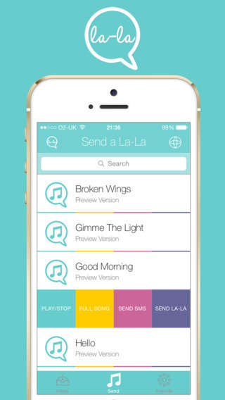 Musical Messaging Apps - The La-La App Allows You To Chat Via Song