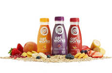 Oat-Based Smoothies - Oatworks Packaging Makes Its Healthy Oatmeal Smoothie Ingredients Exciting