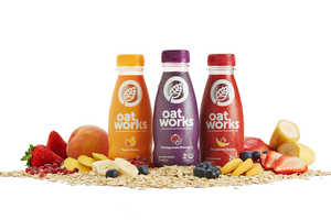 Oatworks Packaging Makes Its Healthy Oatmeal Smoothie Ingredients Exciting