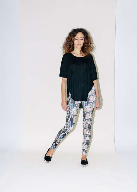 Celebrity Heartthrob Leggings - The Ryan Gosling Leggings Feature a Collage of the Celebrity