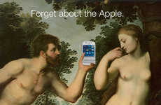 Sinful Smartphone Ads - This Blackberry Ad Series Replaces Adam and Eve's Apple with Its Phone