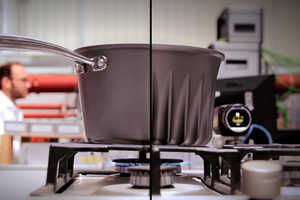 The Redesigned Finned Pots and Pans Require Less Heat to Cook Food